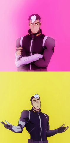 I noticed that shiro kept making this face when talking to allura in a few episodes