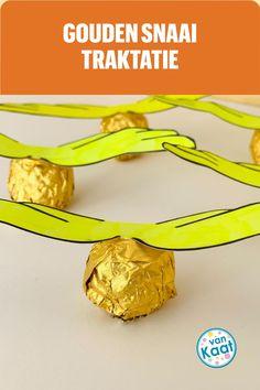 Een gouden snaai is de perfecte coronaproof traktatie om op school of op je kinderfeestje te trakteren! Nog meer ideeen lees je in mijn blog
