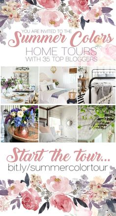 Summer Colors Home Tours- 35 top bloggers share their favorite color trends and interior designs for summer. #interiordesignideas #interiordecorating #interiordecor #designideas #summertime #summerdecor #homedecor #homedesign #hometrends #kitchenideas #tablescapes #hometourb