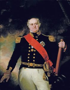 Vice-Admiral Sir Thomas Masterman Hardy, 1st Baronet was a Royal Navy officer. He took part in the Battle of Cape St Vincent in February 1797, the Battle of the Nile in August 1798 and the Battle of Copenhagen in April 1801 during the French Revolutionary Wars. He served as flag captain to Admiral Lord Nelson, and commanded HMS Victory at the Battle of Trafalgar in October 1805 during the Napoleonic Wars.