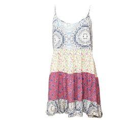 Backless Smock Dress ($39) ❤ liked on Polyvore featuring dresses, sun dresses, smock dress, white backless dress, floral dresses and boho sundress