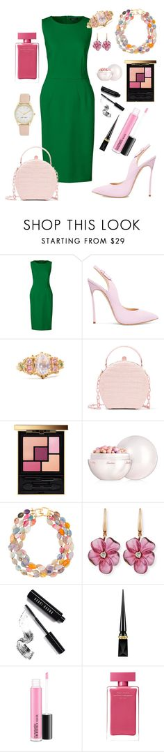 """Fern"" by annabellalovesfashion ❤ liked on Polyvore featuring Lands' End, Casadei, Nancy Gonzalez, Yves Saint Laurent, Guerlain, Kenneth Jay Lane, Rina Limor, Bobbi Brown Cosmetics, Christian Louboutin and Narciso Rodriguez"