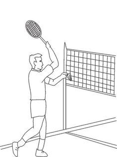 Coloring pages for kids sports kidsfreecoloring net free for Badminton coloring pages