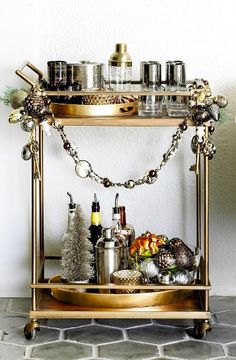 The Look for Less: Crate and Barrel 'Libations' Bar Cart