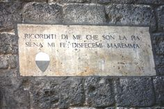 "Pia de' Tolomei text gravure - ""Remember me, the one who is Pia;  Siena made me, Maremma undid me"" (by Dante Alighieri)"