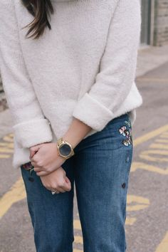 Embroidered Jeans on the blog!
