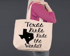 Texas | Personalized Canvas Tote Bag