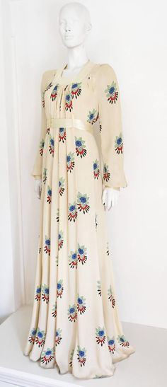 Ossie Clark summer evening dress with Celia Birtwell print, c.1970s