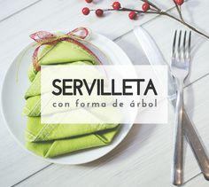 Decora tu mesa en Navidad con servilletas en forma de árbol