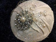 Vintage style Ivory Bridal Headpiece, bridal hat, flush birdcage veil with, rhinestone & pearl pleats, rhinestones. Bridal Hair Fascinators, Bridal Hat, Fascinator Hairstyles, Fascinator Hats, Vintage Style, Vintage Fashion, Vintage Hats, Bridal Jewelry Vintage, Wedding Jewelry
