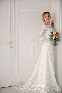 Lace Sleeves Wedding Dresses (32)