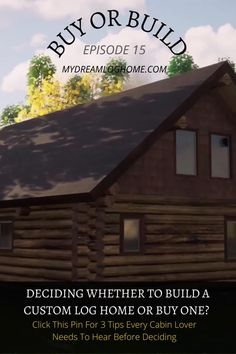 Shopping for an already built home is drastically different from planning to build a custom log home. In this podcast episode host Lindsay discusses 3 tips everyone should know when planning to build a dream home instead of buying. #logcabin #cabinlove #buildaloghome Home Instead, Log Home Designs, Log Cabin Homes, Need To Know, Helpful Hints, House Design, Construction, How To Plan, Building