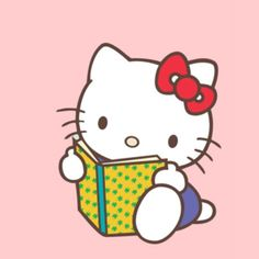Awww, Even Hello Kitty Likes To Read.