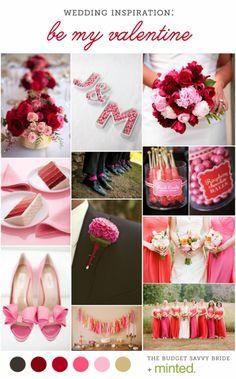 Valentine's Wedding Inspiration