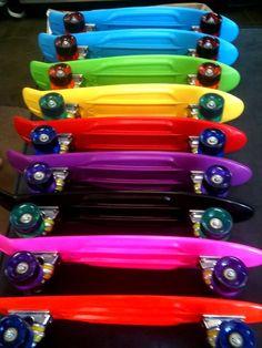 ◘<3 rainbow skateboards
