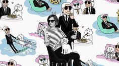 #Karl_Lagerfeld #around the world #article