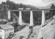 Innsbruck/Straßenbahn 1904, Mutterer Viadukt