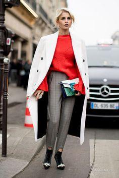Уличная мода: Неделя моды в Париже: уличный стиль показов Elie Saab, Valentino и других