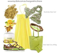 """""""Creata Direct Green Apple Carry All Bag"""" by mcshanes on Polyvore"""