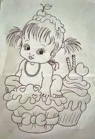 Resultado de imagem para riscos de bebe menino para pintura em fralda