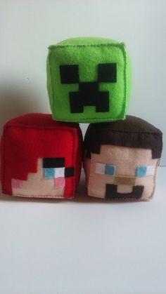 Cubinhos de Feltro Minecraft