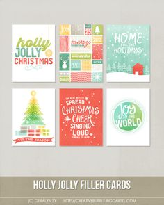 $3.99 for this AWESOME set of six fun and festive digital journaling cards is perfect for scrapbooking, Project Life, or holiday mini-books. Included in this set are individual high resolution .jpg files and two printable .pdf pages.This set contains: 6 - 3x4* Journaling cards *actual size of cards is 2.95x4Note: For personal use only. This is a downloadable product