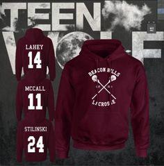 FELPA-TEEN-WOLF-STILINSKY-OFFICIAL-LACROSSE-BEACON-HILLS-LAHEY-MCCALL-UNISEX Serie Tv, Tv Series, Teen Wolf, Beacon Hills Lacrosse, Stilinski 24, Hoody, Sweat Shirt, Gadget, Loft