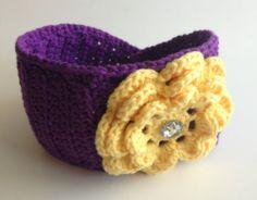 Crochet Flower Headwrap/Earwarmer