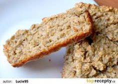 Chléb z ovesných vloček recept - TopRecepty.cz Buckwheat, Bread Baking, Crackers, Banana Bread, Clean Eating, Good Food, Food And Drink, Menu, Sweets