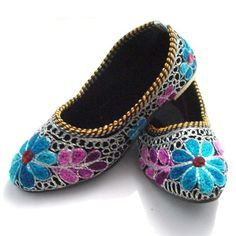 JAIPURI HANDMADE EMBROIDED JUTTI JUTI MOJARI CHILDRENS SHOE FLATS SLIPPER PUNJABI SHOES