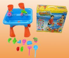 Sand & Water Activity Table with Beach & Sand Toys Set for Kids (BLUE) $33.99 #topseller