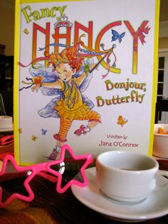 Learning with Fancy Nancy: includes learning fancy words, a fancy tea party, and lots of books.