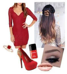 """""""Red party!"""" by olghetta30 on Polyvore featuring beauty, Red Circle and LASplash"""