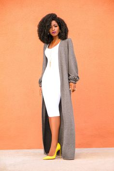Women jacket, solid color jacket, classy women jacket, jacket, long jacket is part of fashion - Made and shipped from Houston Texas Many other fabrics and colors Available Black Women Fashion, Look Fashion, Autumn Fashion, Womens Fashion, Fashion Tips, Fashion Trends, Black Women Style, Sporty Fashion, Cheap Fashion