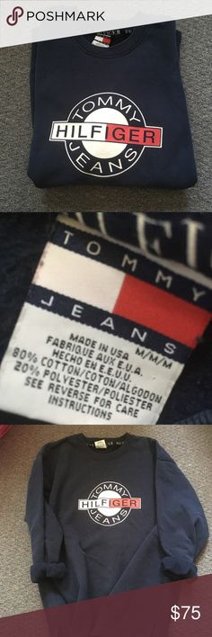 Tommy logo across the front. Men's size M. Tommy Hilfiger Sweaters Source by danie. Frock Fashion, Mens Fashion, Tommy Hilfiger T Shirt, Tee Design, Jogger Pants, Mens Sweatshirts, Girl Outfits, Logo Vintage, Pajama