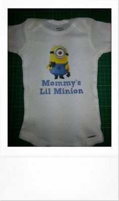 Cute & Funny Onesie Mommy's Lil Minion Onesie by THESPOTBTOWN, $12.99