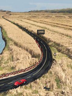 La carretera del arrozal.