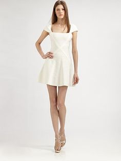 First Herve Leger dress I would actually wear... The flare at the bottom makes it a bit forgiving.