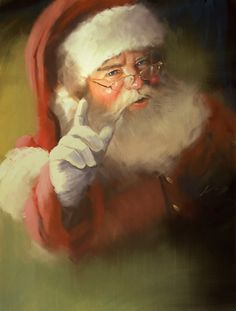 Better watch out! (Yes, Santa! Christmas Scenes, Father Christmas, Santa Christmas, Christmas Pictures, Winter Christmas, Xmas, Santa Paintings, Christmas Paintings, Santa Pictures