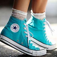 Shop Blue Converse on Wanelo