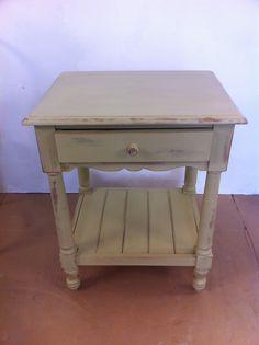Small side table painted in Versailles Annie Sloan chalk paint.
