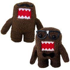 Moustache & Glasses Plush Domo