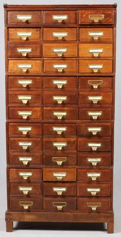 Yawman Manufacturing Co Ny Mahogany Cabinet Studio Furniture, Cabinet Furniture, Antique Furniture, Furniture Design, Funky Furniture, Arts And Crafts Storage, Craft Storage, Gothic Kitchen, Mahogany Cabinets