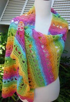 Cascading Stylish Crochet Shawl - LOVE this
