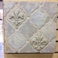 Fleur De Lis Tile Kitchen With