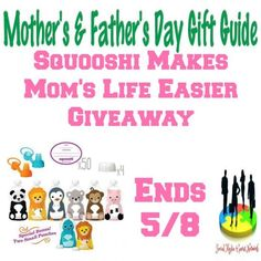 Squooshi Makes Mom's Life Easier Giveaway Ends 5/9Squooshi Reusable Food Pouches