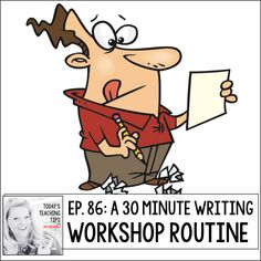 A 30 Minute Writing Workshop Schedule - Out of this Word Literacy Writing Process, Writing Tips, Writer Workshop, Teaching Writing, Out Of This World, Grade 3, Lesson Plans, Writers, Schedule