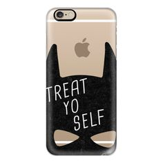 iPhone 6 Plus/6/5/5s/5c Case - Treat Yo Self | Batman ($40) ❤ liked on Polyvore featuring accessories, tech accessories, phone, phone cases, electronics, iphone case, apple iphone cases, slim iphone case and iphone cover case