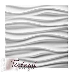 """3D Repairable, paint-able and 100% organic. Textural Designs """"Zen"""" Gypsum Wall Tiles"""
