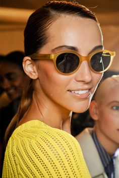 cool shades & a yellow sweater